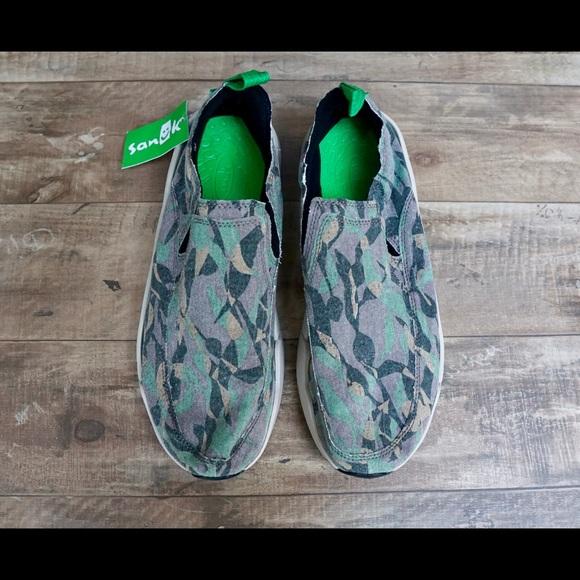a45cd4421bab4 Sanuk Men's Chiba Funk Quest Camo Slip-On Shoes NWT